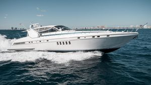 Used Mangusta 80 Open Express Cruiser Boat For Sale