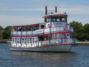 Used Custom East Bay Boat Works Paddle Wheeler Commercial Boat For Sale