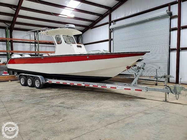 Used Leblanc Boat Works Custom 31 Aluminum Fishing Boat For Sale