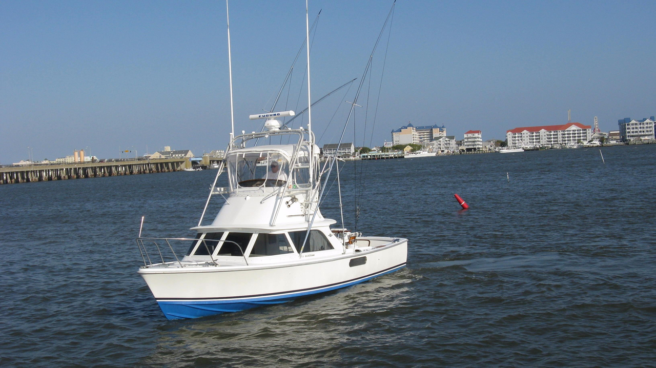 1976 used bertram 31 flybridge cruiser saltwater fishing for Offshore fishing boats for sale