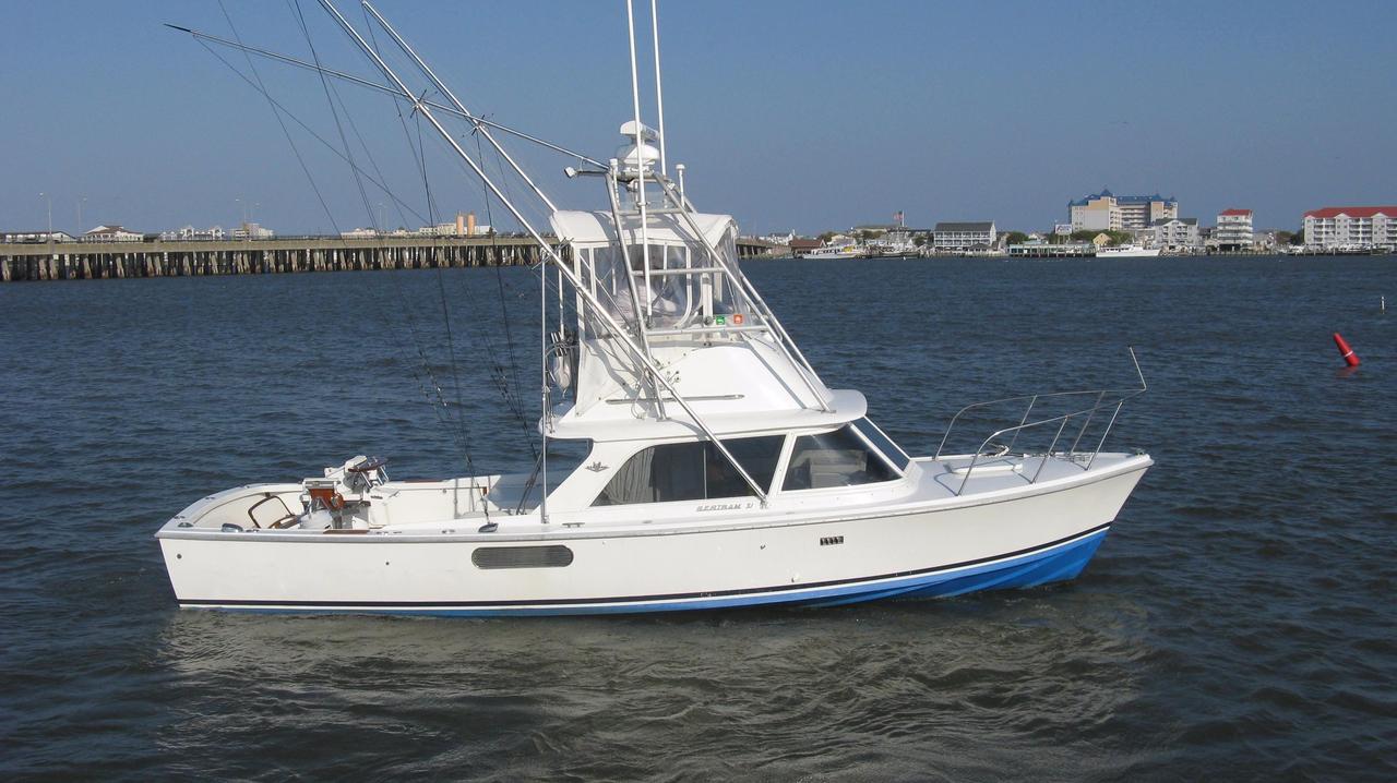 1976 used bertram 31 flybridge cruiser saltwater fishing for Saltwater fishing boat