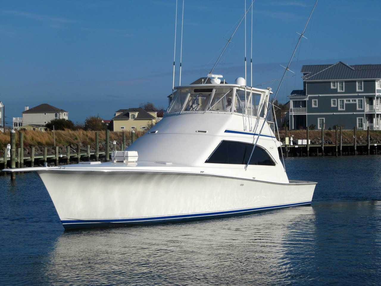 1994 used ocean yacht 53 super sport sports fishing boat for Sport fishing boats