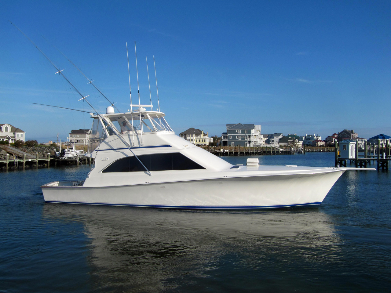 1994 used ocean yacht 53 super sport sports fishing boat for Used fishing boats for sale in md