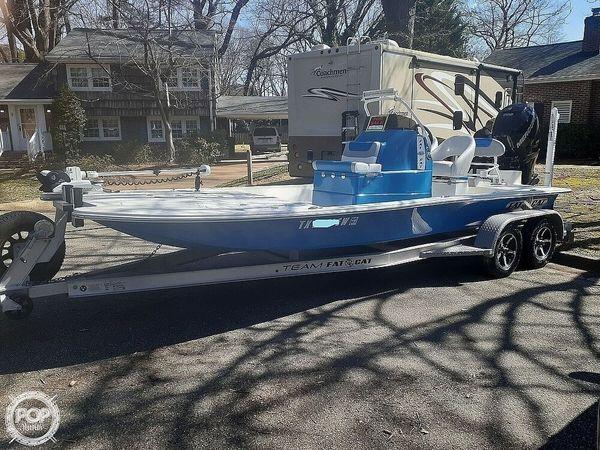 Used Fat Cat Manta Ray CB 21 Power Catamaran Boat For Sale