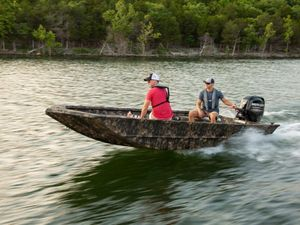 New Lowe Roughneck 1660 Deluxe Tiller Freshwater Fishing Boat For Sale