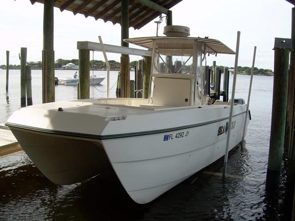 1997 used sea cat sl5 blue water pro center console for Used center console fishing boats for sale