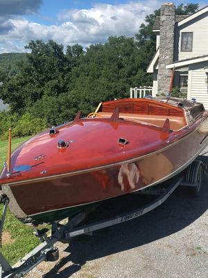 Used Custom Runabout Speedboat 21' Gentlemans Mahogany Other Boat For Sale
