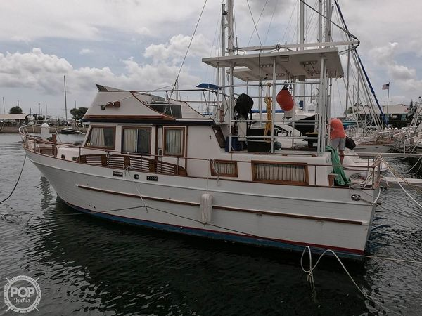 Used Marine Trader 38 Trawler Boat For Sale