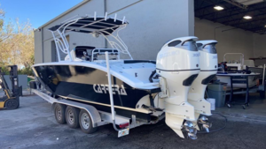 Used Carrera Boats 320 effect Center Console Fishing Boat For Sale