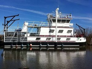 Used Custom Built 71ft x 24ft x 6ft House Boat For Sale
