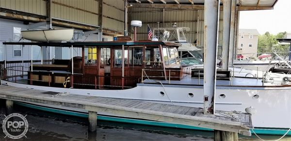 Used Elco 42' ELCO Flat Top Motor Yacht Antique and Classic Boat For Sale