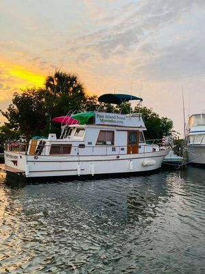 Used Marine Trader 36 Aft Cabin Trawler Boat For Sale