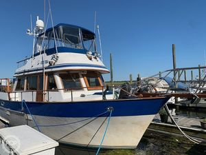 Used Universal Hampton Bay 39 Trawler Boat For Sale