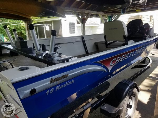 Used Crestliner 18 Kodiak Aluminum Fishing Boat For Sale