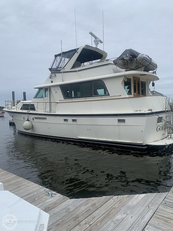 Used Hatteras 53 Extended deck house Aft Cabin Boat For Sale