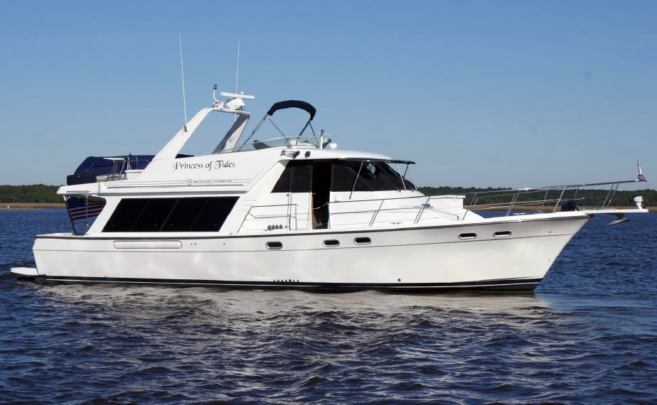 1998 used bayliner 4788 pilot house motoryacht motor yacht for Used motor yacht for sale