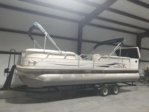 Used Sun Tracker 25 Parti Barge Pontoon Boat For Sale
