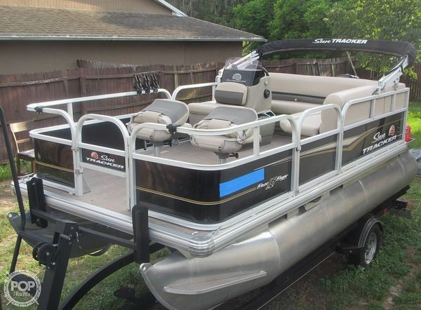 Used Sun Tracker Bass Buggy 16 DLX Pontoon Boat For Sale