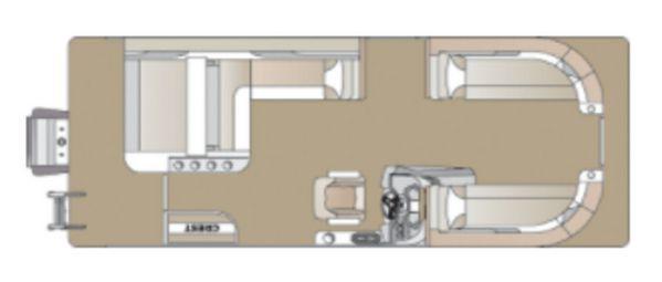 New Crest Classic DLX 220 SLS CPT DLX Pontoon Boat For Sale