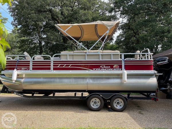 Used Sun Tracker Fishing Barge 20DLX Pontoon Boat For Sale