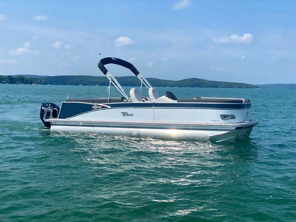 New Tahoe 2585 CASCADE QUAD LOUNGER w/Suzuki 200hp Motor Pontoon Boat For Sale