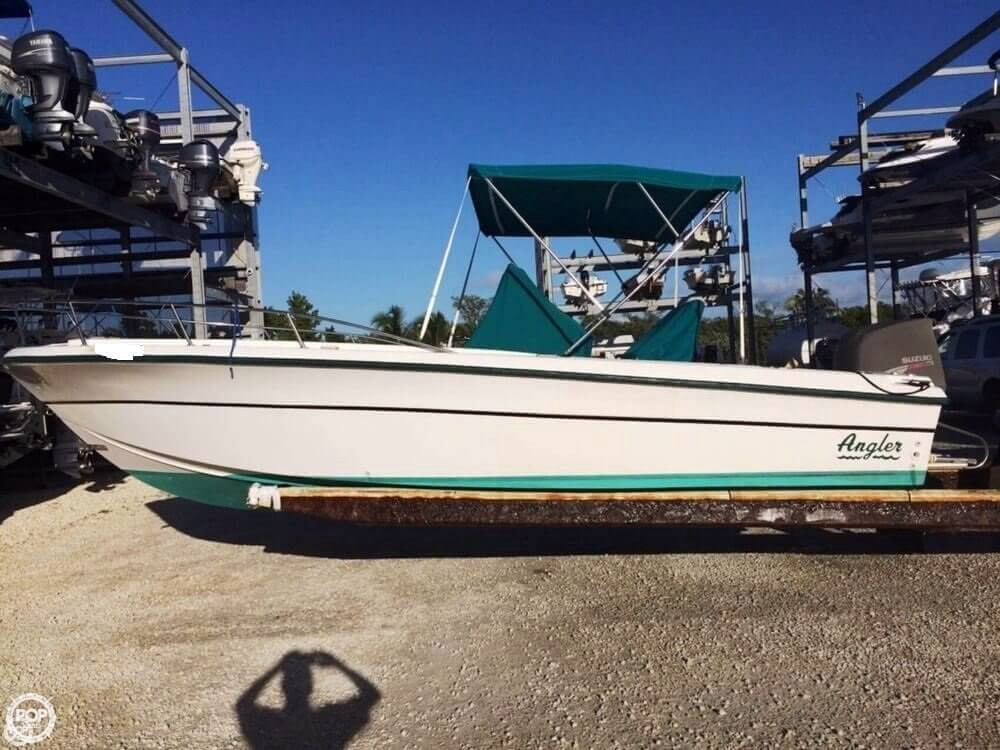 1999 used angler 220 cc center console fishing boat for for Angler fishing boat