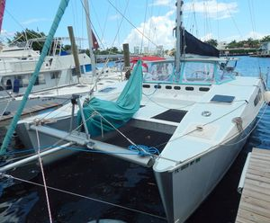 Used Mirage Boats 37 Open Deck Catamaran Sailboat For Sale