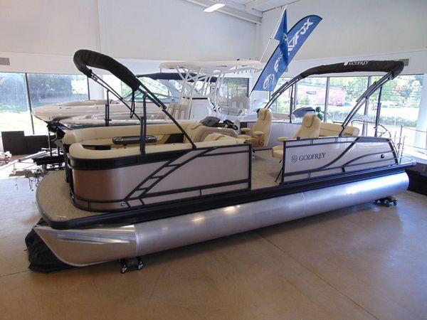 New Godfrey Monaco 255 Single Flip Lounge Pontoon Boat For Sale