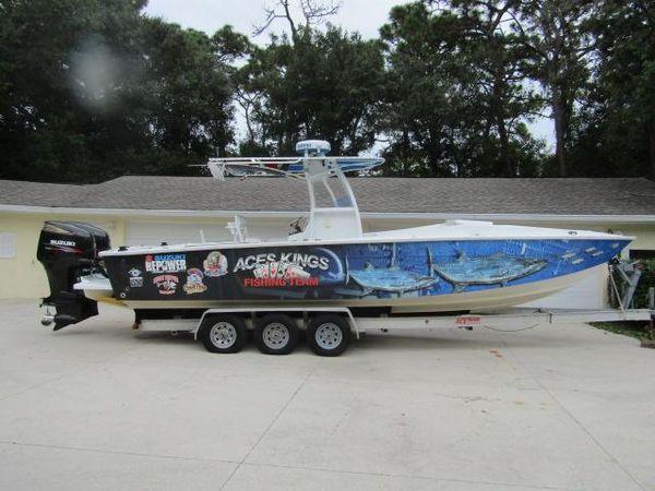 Used Custom 30 Corsa Center Console Cuddy Center Console Boat For Sale