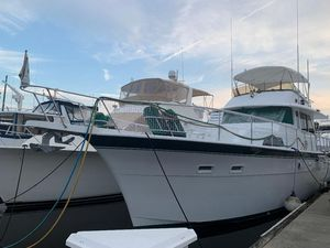 Used Hatteras 53 Yacht Fisherman Aft Cabin Boat For Sale