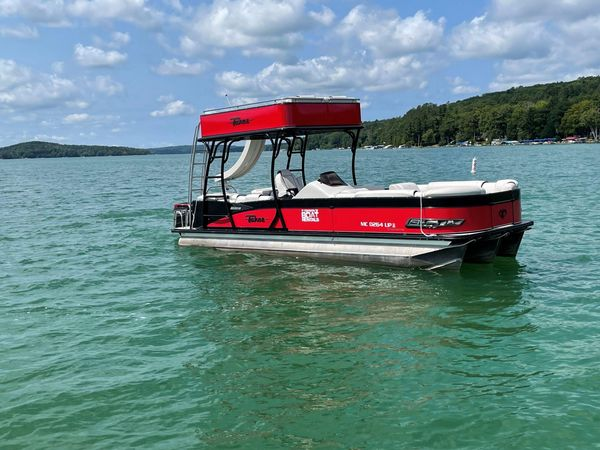 Used Tahoe 2785 Cascade Platinum Entertainer Fun Ship Pontoon Boat For Sale