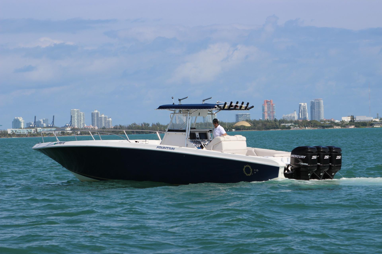 2002 used fountain 38 tournament edition center console for Center console fishing boats for sale