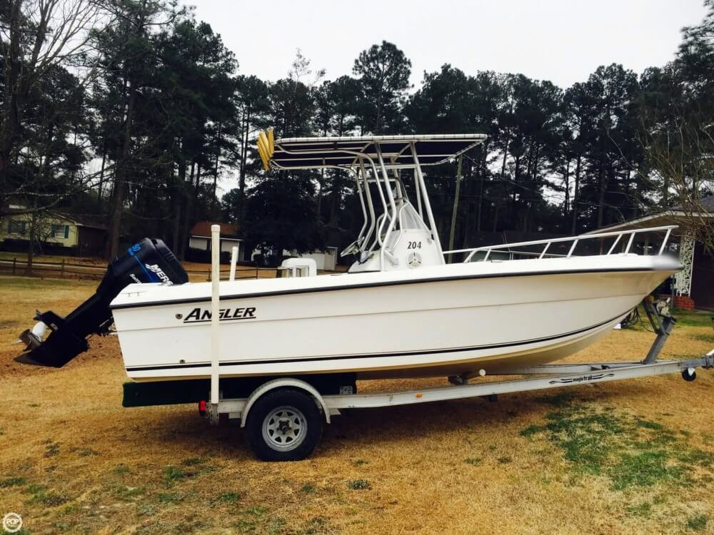 2003 used angler 204 cc center console fishing boat for for Fishing in fayetteville nc