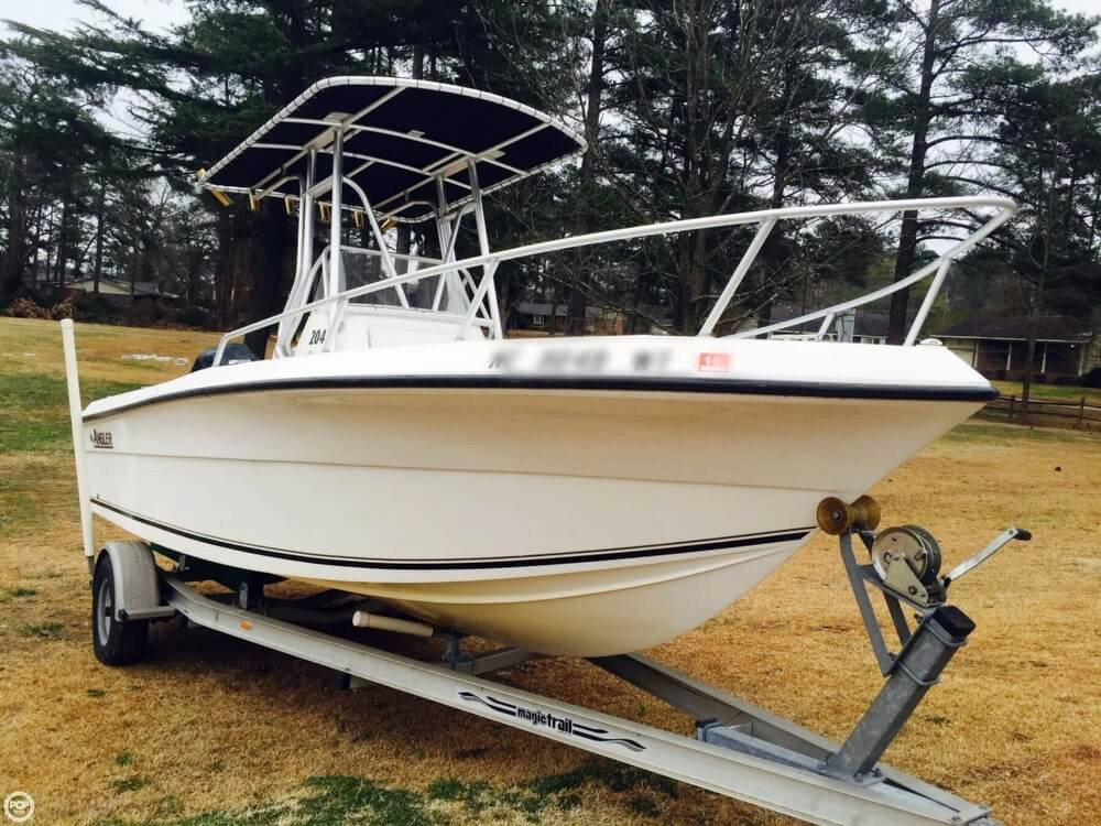 2003 used angler 204 cc center console fishing boat for for Angler fishing boat