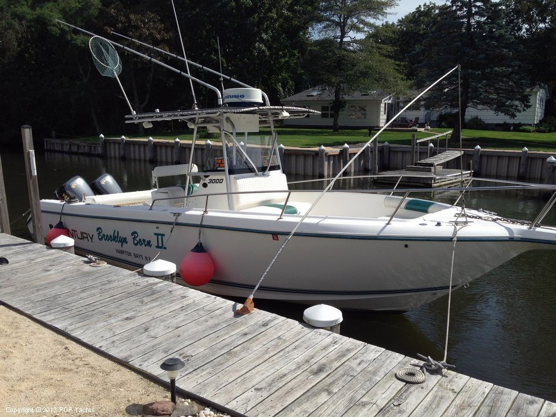 1995 used century 3000 cc center console fishing boat for for Fishing boats for sale in ny