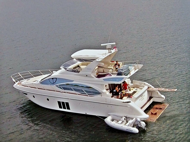 2012 used azimut 53 flybridge motor yacht for sale for Used motor yachts for sale in florida