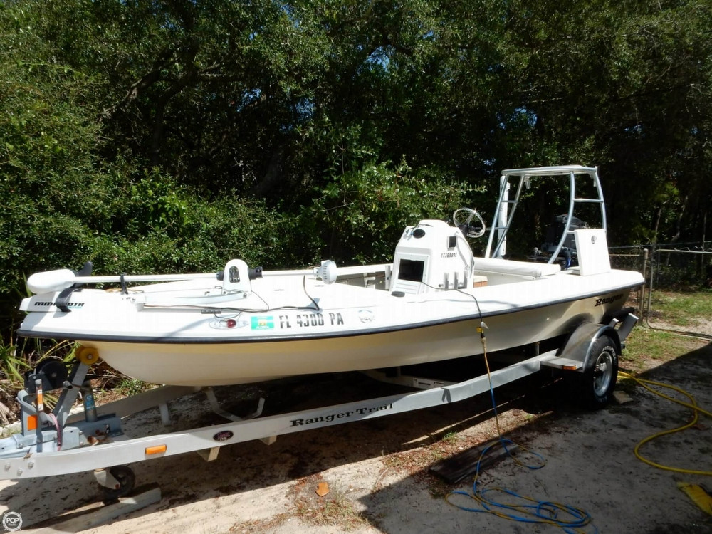 2008 used ranger boats 173 ghost flats boat flats fishing for Used fishing boats for sale in florida