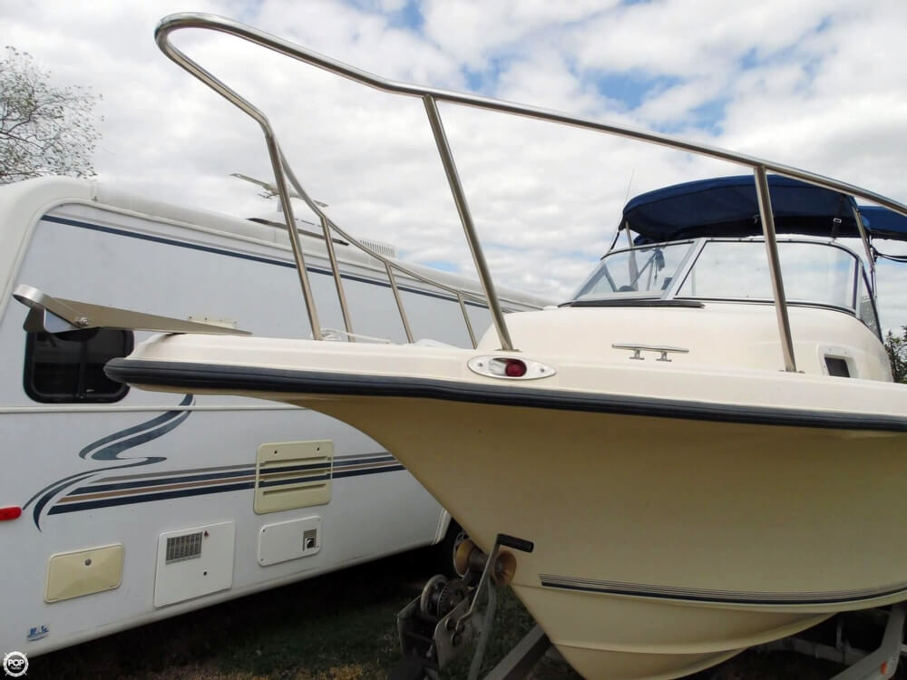 2004 used key west 225wa walkaround fishing boat for sale for Used fishing boat