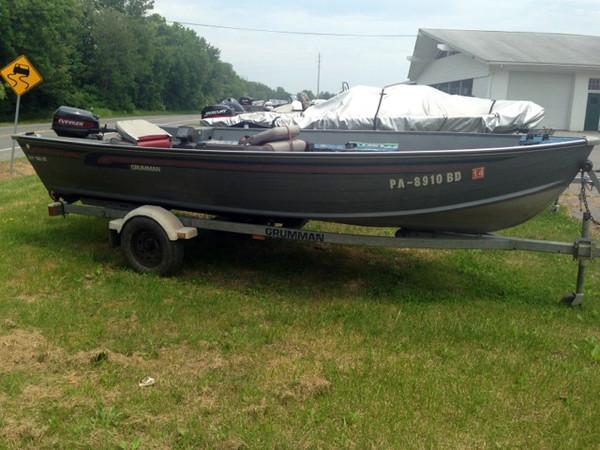 Used Grumman 160 Tiller Sports Fishing Boat For Sale