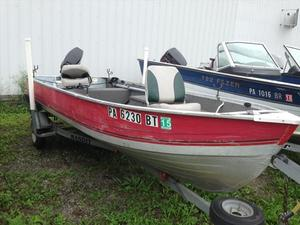 Used Mirrocraft 14' TILLER Boat and Trailer Only Sports Fishing Boat For Sale