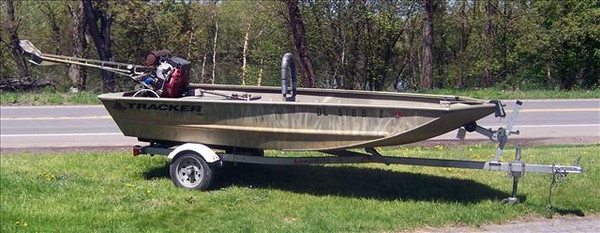 Used Tracker Grizzly 1448 L All-Welded Jon Boat For Sale