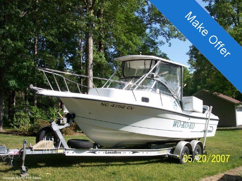 2001 used pro sports 2200 walkaround fishing boat for sale