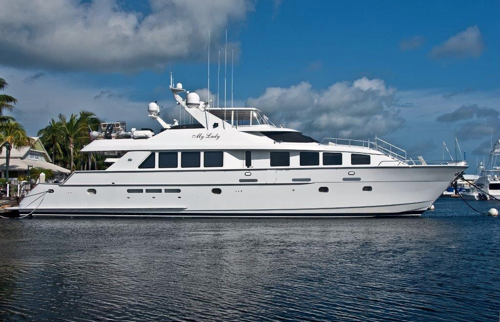 1998 used hatteras elite series cpmy motor yacht for sale for Used motor yacht for sale