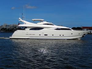 Used Ferretti Custom Flybridge Boat For Sale