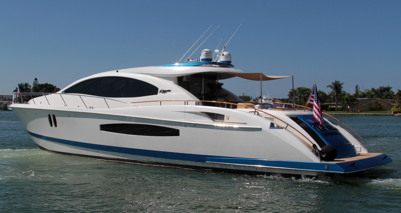 2007 used lazzara 75lsx motor yacht for sale 1 499 000 for Used motor yachts for sale in florida