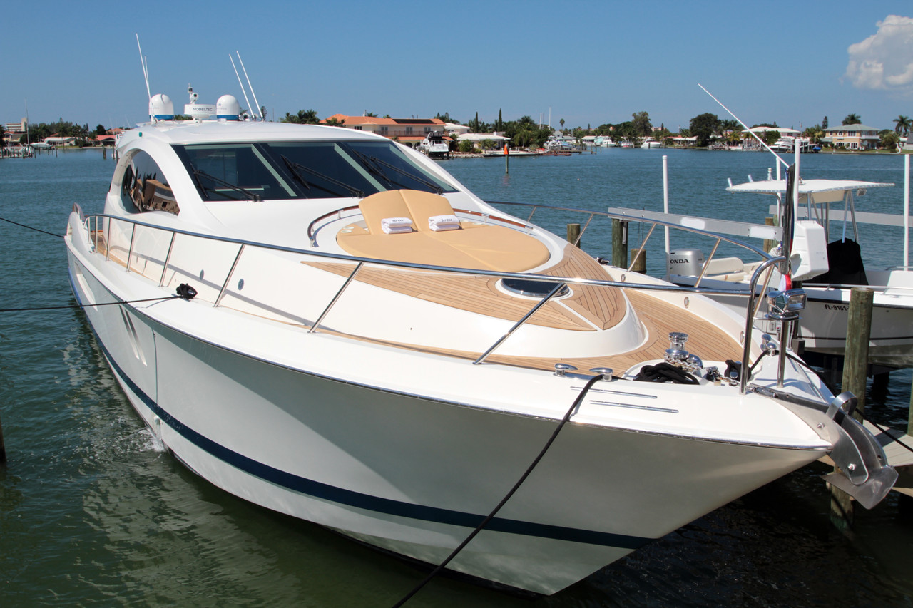 2007 used lazzara 75lsx motor yacht for sale 1 499 000 for Motor yachts for sale in florida
