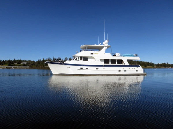 Used Outer Reef Yachts Outer Reef 700 Raised Pilot House Motor Yachts Trawler Boat For Sale