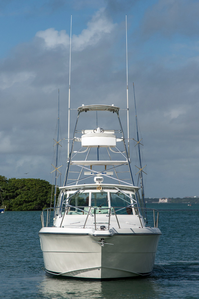 2003 used rampage 38 express sports fishing boat for sale for Express fishing boats for sale