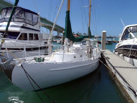 Used De Vries Steel Ketch Cruiser Sailboat For Sale