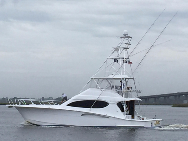 Used Hatteras 54 Convertible w/CAT warranty Saltwater Fishing Boat For Sale